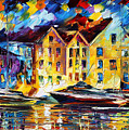 New Harbor by Leonid Afremov