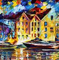 New Harbor by Leonid Afremov