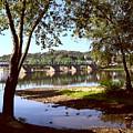 New Hope Lambertville Bridge by Addie Hocynec