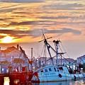 New Hope Sunrise - Sunken Ship At West Ocean City Harbor by Kim Bemis