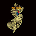 New Jersey Typographic Map 4g by Brian Reaves