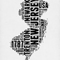 New Jersey Word Cloud 2 by Naxart Studio