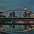 New Main Street Bridge At Dusk - Columbus, Ohio by Mitch Spence