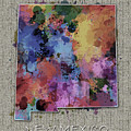 New Mexico Map Color Splatter 5 by Bekim M