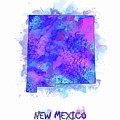 New Mexico Map Watercolor 2 by Bekim M