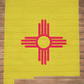 New Mexico Rustic Map On Wood by Dan Sproul