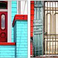 New Orleans Doorways Diptych One by Kathleen K Parker
