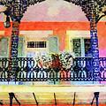 New Orleans French Quarter Balcony by Rebecca Korpita