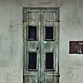 New Orleans Green Doors by Perry Webster