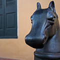 New Orleans Horse Head Hitching Post by Juergen Roth