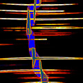 New Orleans Neon Frequency Native American Indan Abstract 3 by Michael Hoard