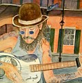 New Orleans Street Musician by Linda Scharck