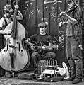 New Orleans Street Musicians Bw by Steve Harrington