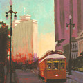 New Orleans Trolley by Robert Bissett
