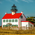 New Paint On East Point Lighthouse by Nick Zelinsky