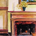 New Painting Over The Mantel by John Williams