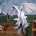 New Point Egret by Debbie LaFrance