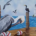 New Point Pelican by Debbie LaFrance