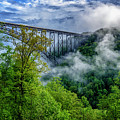 New River Gorge Bridge Morning  by Thomas R Fletcher