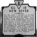 New River Historical Marker by Kerri Farley