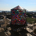 Stained Glass Water Tower In Milwaukee by Steve Bell