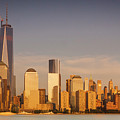 New World Trade Memorial Center And New York City Skyline Panorama by Ranjay Mitra