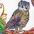 New-year Owl by Anna Berezina