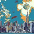 New York America  Skyline - Manhattan by Celestial Images