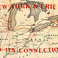 New York And Erie Railroad Map 1855 by Daniel Hagerman