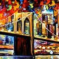 New York Brookyln Bridge by Leonid Afremov