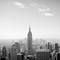 New York City - Empire State Building Panorama Black And White by Thomas Richter