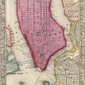 New York City 1860 Map by Movie Poster Prints