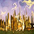 New York City 2200 - Modern Art by Peter Potter