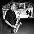 New York City Central Park Saxophone Musician by Ranjay Mitra