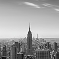 New York City - Empire State Building Panorama Black And White - 2015 Edition by Thomas Richter