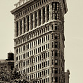New York City - Flatiron In Sepia by Bill Cannon