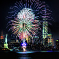 New York City Harbor Fireworks by Christopher Arndt