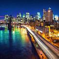 New York City Lights Blue by Tony Rubino