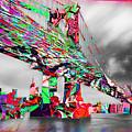 New York City Manhattan Bridge Pure Pop Red by Tony Rubino