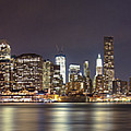 New York City - Manhattan Waterfront At Night by Thomas Richter