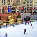 New York City Rockefeller Center Ice Rink by Christopher Arndt