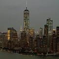 New York City Skyline Aerial - Lower Manhattan by David Oppenheimer