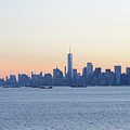 New York City Skyline At Sunrise  by Merijn Van der Vliet