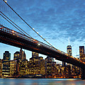 New York City Skyline By Night by Antonio Gravante