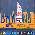 New York City Skyline License Plate Art by Design Turnpike