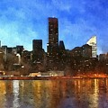 New York City Skyline by Modern Art