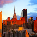 New York City Skyline Sunset by Rich Walter