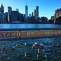 New York City Skyline With Brooklyn Bridge by Joann Vitali