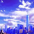 New York City Skyline With Freedom Tower by Steve Karol