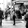 New York City Standing In The Street by John Rizzuto